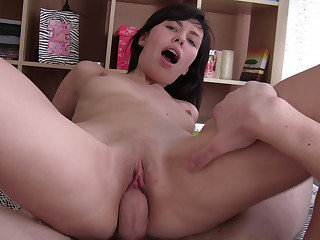 Taking a mouthful of cum